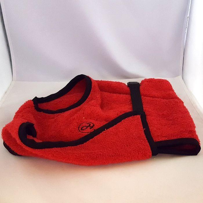 Bademantel Rückenlänge 40 cm Red