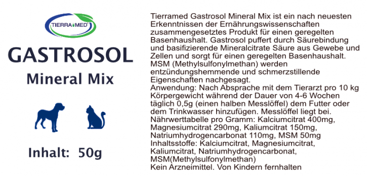 TIERRAMED Gastrosol Mineral-Mix 50g