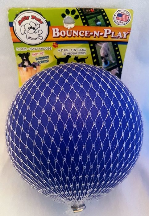 Jolly Pets Bounce-n-Play Ball small dunkelblau