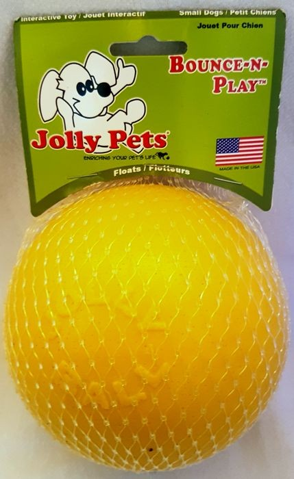Jolly Pets Bounce-n-Play Ball small gelb