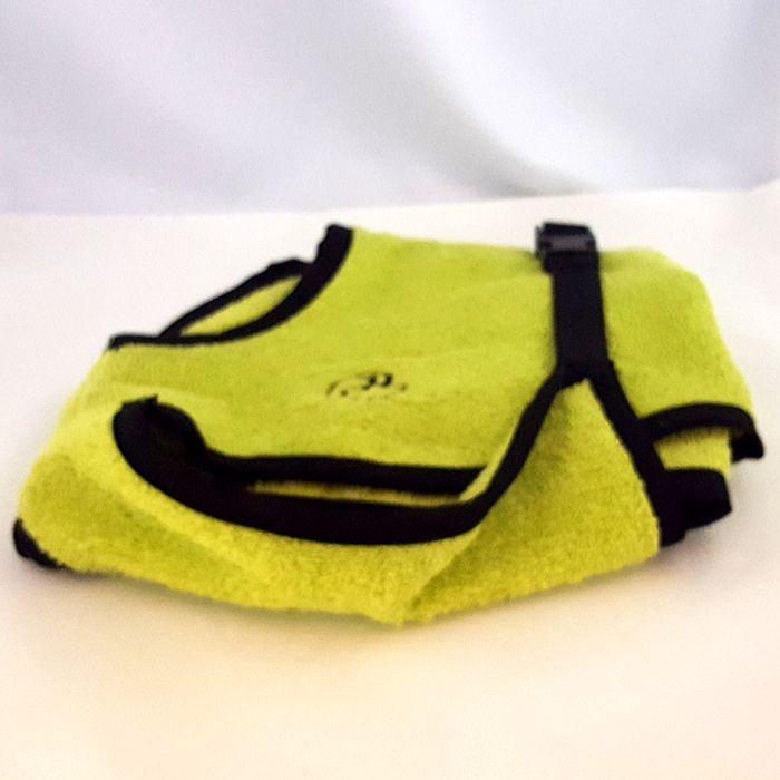 Bademantel Rückenlänge 35 cm Lime Green