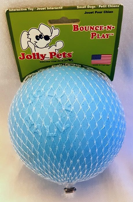 Jolly Pets Bounce-n-Play Ball large hellblau