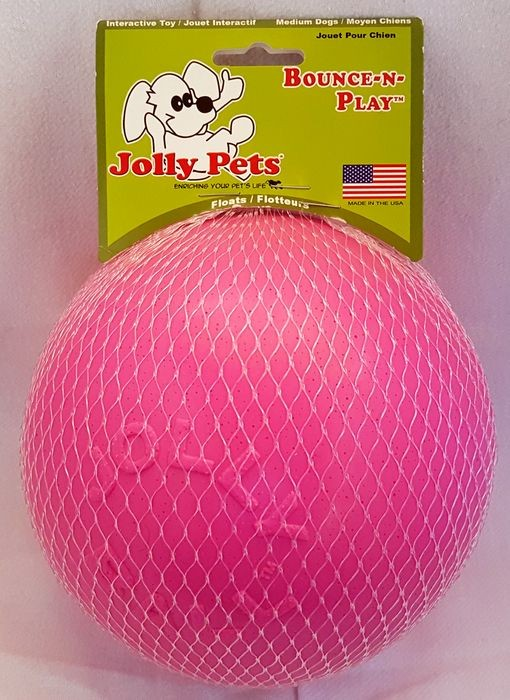 Jolly Pets Bounce-n-Play Ball small pink