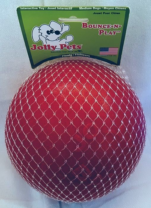 Jolly Pets Bounce-n-Play Ball medium rot