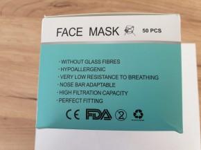 Mund-Nasen-Schutz 50 Stück (zu nicht medizinischen Zwecken)